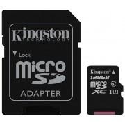 Card microSDXC 128GB KINGSTON, Class 10, UHS-I, Adaptor SD