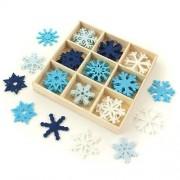 CreativeHobby Filcowe dekoracje świąteczne 45 szt. - ŚNIEŻYNKI - śnieżynki