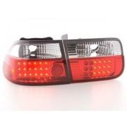 FK-Automotive LED Feux arrieres pour Honda Civic 2-portes (type EJ9 / EK1 /2/3) An 96-00, clair/rouge