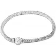 Silventi 910471520 - Zilveren Armband - Zirkonia - Wit - Zilver