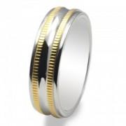 Inel magnetic placat cu aur VOX 43