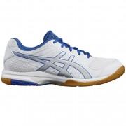 asics Herren-Volleyballschuh GEL-ROCKET 8 - white/silver/classic blue
