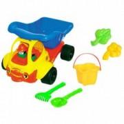 Jucarii pentru plaja si nisip - Camion cu accesorii pentru joaca in nisip
