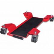 vidaXL Mobilná podložka pod hlavný stojan motocykla, červená
