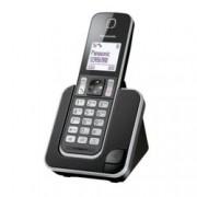 """Безжичен телефон Panasonic KX-TGD310FXB, 1.8"""" (4.6cm) черно-бял дисплей, черен"""