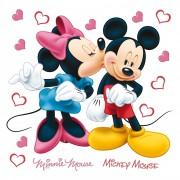 Decorațiune autocolantă Minnie & Mickey, 30 x 30 cm