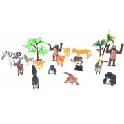 Zoo Wild Animals Figures Set For Kids - Pack Of 16 Animals (Small Size) (Multi Colour)