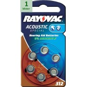 Rayovac 312 Acoustic Special - 1 blister