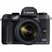 Canon EOS M5 Aparat Foto Mirrorless 24MP APSC Full HD Kit cu Obiectiv EF-M 18-150 F/3.5-6.3 IS STM Negru