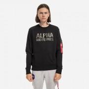 Alpha Industries Camo Print 176301 380 férfi pulóver