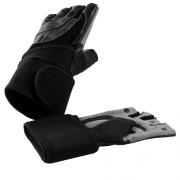 Gorilla Sports Leren Fitness Handschoenen Met Polsbandage S