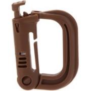 Futaba Molle Backpack Carabiner Snap D-Ring Clip KeyRing Locking - Brown Luggage Strap(Brown)