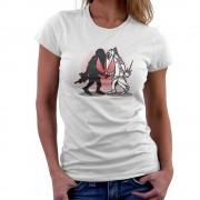 Cloud City 36469 Ninja Vs Ninja Snake Eyes Vs Storm Shadow Spy Vs Spy GI Joe Women's T-Shirt Vit Small