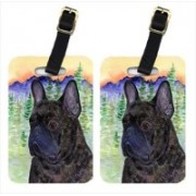 Caroline's Treasures SS8257BT French Bulldog Luggage Tags Luggage Tag(Multicolor)