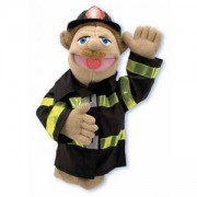 Плюшена кукла за куклен театър - пожарникар, 12552 Melissa and Doug, 000772125529