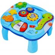 Masuta muzicala cu accesorii, sunete si lumini, picioare detasabile pentru bebe