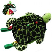 Montessori Learn to Dress Toys Sea Turtle Plush Toys - Zip, Snap, Button, Buckle,and Lace Kids Early Learning Basic Life Skills Toys