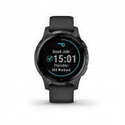 Garmin 010-02172-12 Vivoactive 4S GPS Smartwatch PVD Black Slate