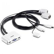 Switch KVM Trendnet TK-217I con 2 puertos USB (c/cables)