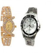 AKS + SILVER ROSARA SIGNATURE DESIGN COMBO WATCH by 7 star
