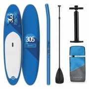 KLARFIT Spreestar tabla para surf de pala hinchable Set de tabla para SUP 305 x 10 x 77 Azul (WTR1-SpreestarPrpl)