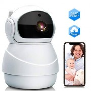 GRC Baby Monitor, WiFi Ip Camera 1080P Wireless Security Camera with Two Way Audio, Motion Detection and Cloud Storage Support 2.4G Wifi Night Vision Remote Surveillance Monitor for Home/ Office/ Shop