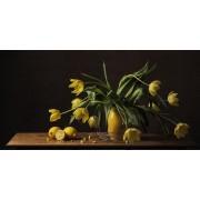 Werk aan de Muur Schilderij Stilleven tulpen - Canvas - 90x45