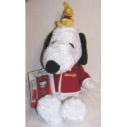 Peanuts 24 Inch Plush 2006 Macy's Plush Snoopy and Woodstock Doll with FM Scanner Radio