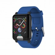 E04 ECG+PPG 1.3 inch Smart Bracelet Fitness Tracker Blood Pressure Heart Rate Monitor - Blue