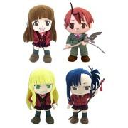 GE Animation Set of 4 NEGIMA Stuffed Plushes - Konoka Konoe, Negi Springfield, Evangeline & Setsuna Sakurazaki Stuffed Plush
