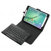 Javu - Samsung Galaxy Tab S2 8.0 (2016) - Bluetooth Toetsenbord Hoes Keyboard Cover Grain Zwart