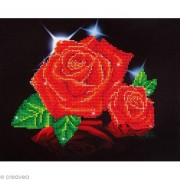 "Diamond Dotz Diamond Embroidery Facet Art Kit 17""X13.75""-Red Rose Sparkle"