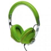 Слушалки EDNET 83136 AURICLE Grasshoper, микрофон, 3.5mm jack, 44mm neodymium говорители, 1.2м кабел, зелени