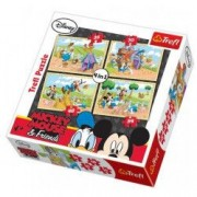 Puzzle Mickey Mouse 4 in 1 - La ferma
