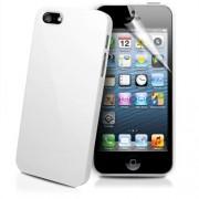 Apple iPhone 5 Твърд Капак Бял + Протектор