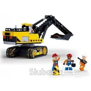 Sluban Traxcavator - 614 Pieces (Brand New in Original English Box) 100% Lego Compatible - Educational Toy - Building Bricks Construction Series M38-B0551