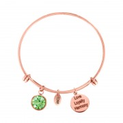 CO88 Armband 'Augustus-Peridot' staal/rosékleurig, one-size 8CB-12056