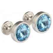 Mousie Bean Crystal Cufflinks Goblet 082 Aqua