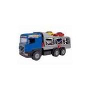 Caminhão Super Cegonha Azul Embalagem Litografada Magic Toys MAT-5057