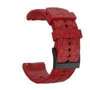 MCXGL Correa de goma de liberación rápida de repuesto para Suunto 9 Baro Cobre, Spartan Series 24 mm Smart Watch 24mm Rojo