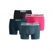 Puma boxershorts Placed Logo 4-pack Pink/Denim-S