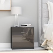 vidaXL Нощни шкафчета, 2 бр, сив гланц, 40x30x40 см, ПДЧ