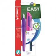 STABILO International GmbH STABILO® EASYbuddy Schulfüller, Schreibstift in ergonomischem Design mit Soft-Griffzone, Farbe: lila/magenta