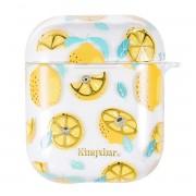Kingxbar Fresh áttetsző AirPods tartó citrom mintával