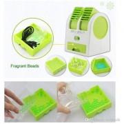 Mini USB Cooling Fan Cooler Portable Desktop Dual Bladeless Air Conditioner USB Cooler Fan