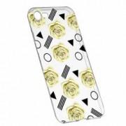 Husa Silicon Transparent Slim Yellow Rose 137 Apple iPhone 7 8