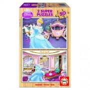 Educa Disney Hamupipőke fa puzzle, 2x50 darabos