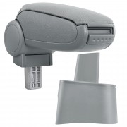 Подлакътник [pro.tec]® Seat Ibiza 6L с контейнер за съхранение, Текстил/Сив