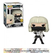 Funko Lorraine Broughton [White Coat] (Chase Edition) Pop Movies X Atomic Blonde Vinyl Figure + 1 Classic Movie Trading Card Bundle [#565 / 29912A]