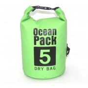 5L Impermeable bolsa seca Pack Sack Natación Rafting Canotaje resistencia al agua-Green